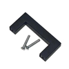 Black Bar Square Pull Handle for Door And Furniture