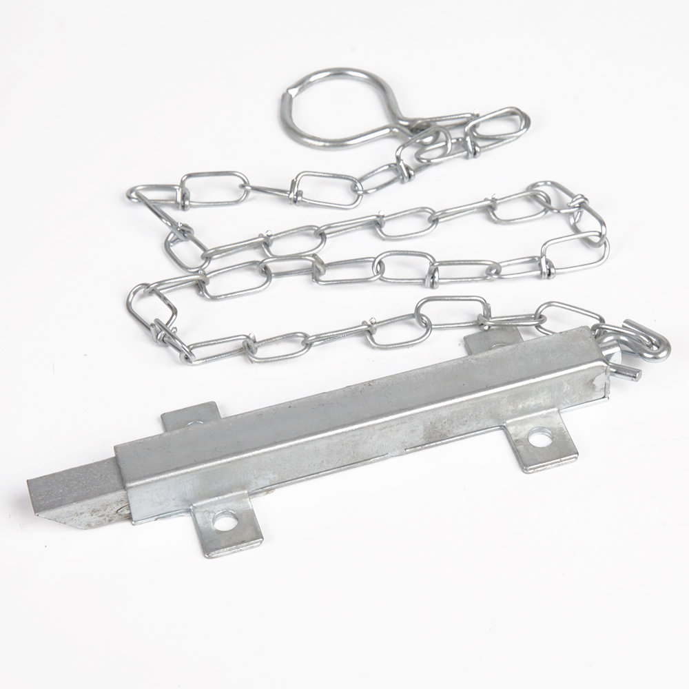 Square Spring Gate Latch with 1/2 Inch Chain