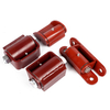 Red Coated Primed Round Mount Gate Hinges